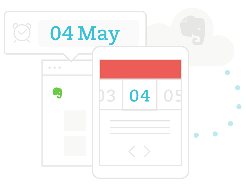 How Evernote and your Calendar are synchronized